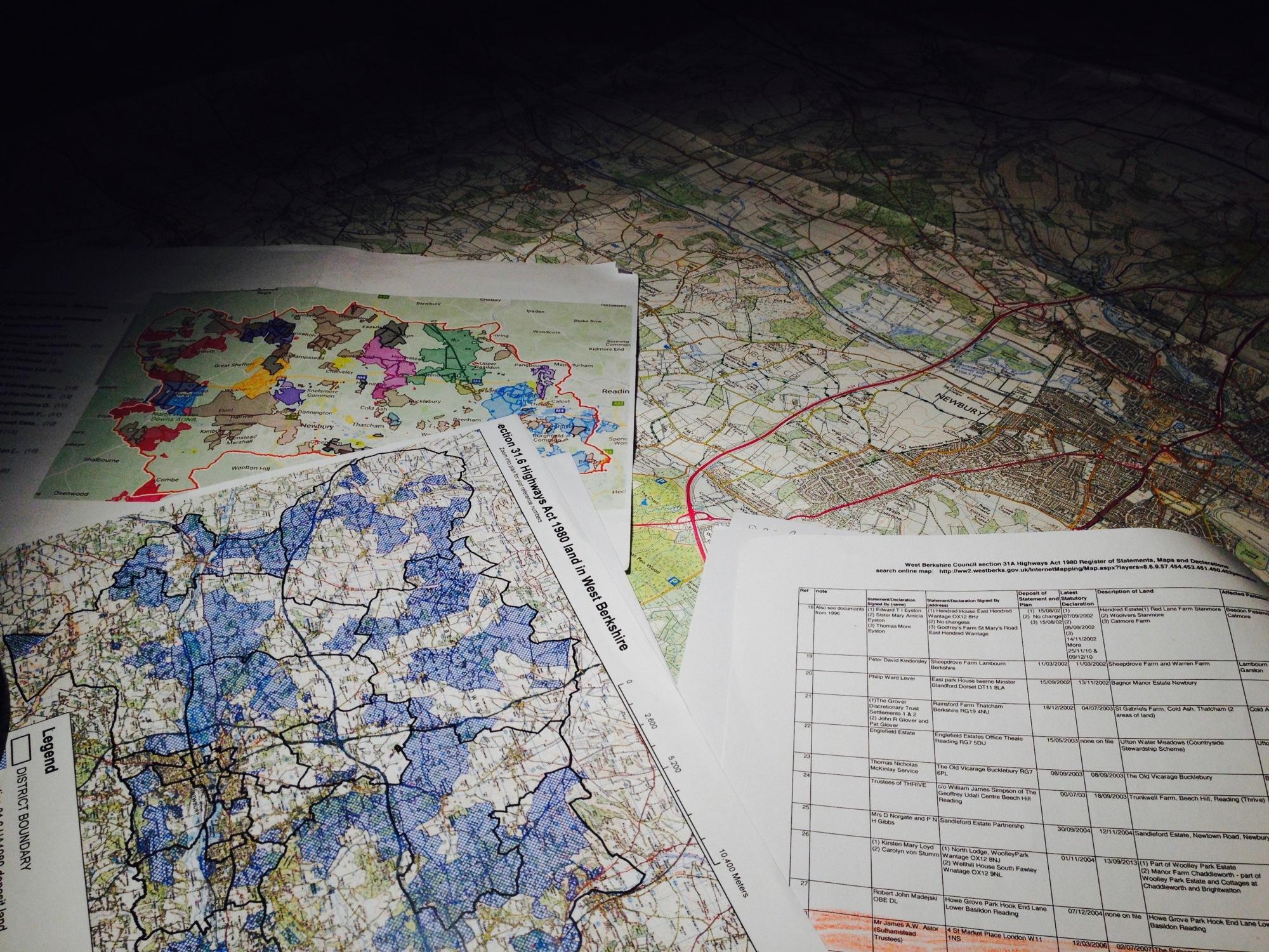 reading berkshire england map