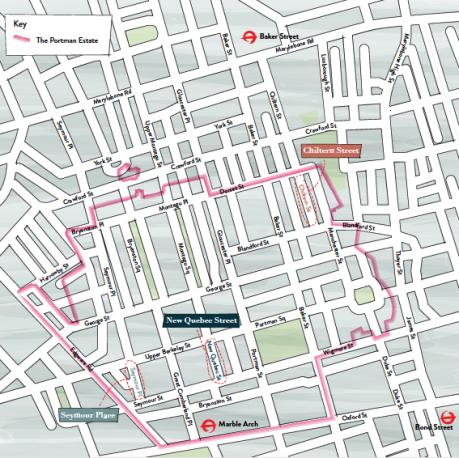 Portman Estate map 2016